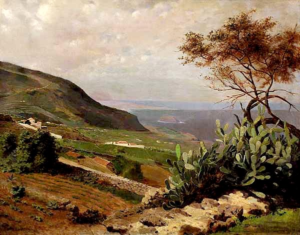 Mexican Landscape Painters a Mexican Landscape With