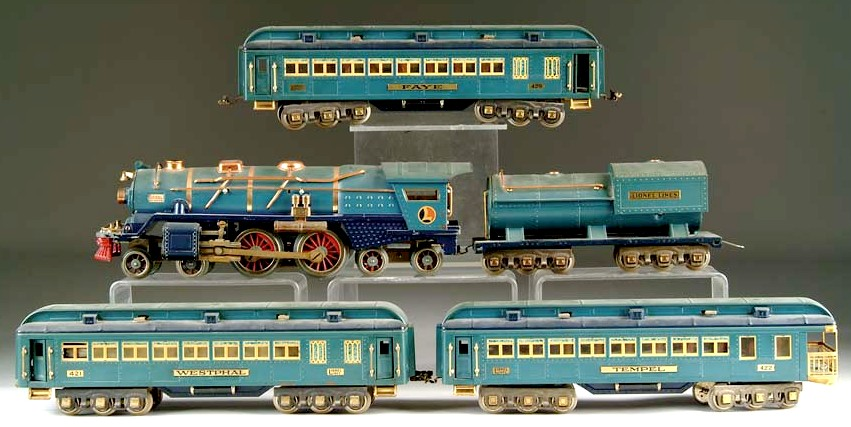 A Lionel Blue Comet train set with No  400E locomotive and