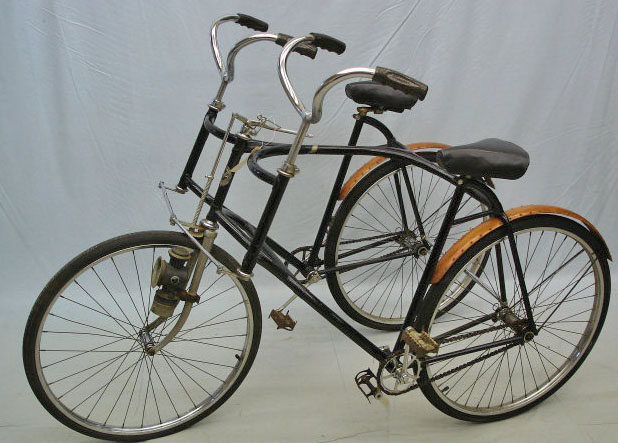 A Wolff & Company Duplex 3-wheel tandem bicycle