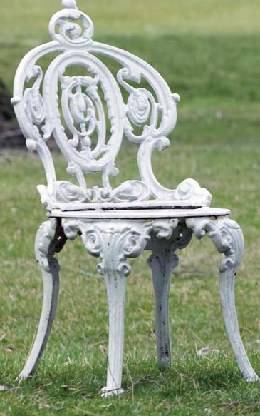 One Of Two Victorian Renaissance Revival Cast Iron Garden Chairs By Atlanta Stove Works