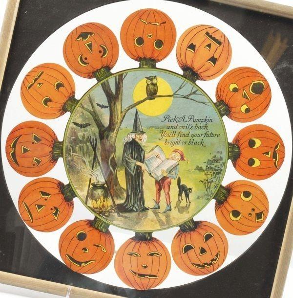 a halloween fortune teller pick a pumpkin game